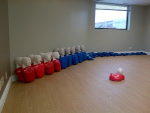 CPR and AED training room
