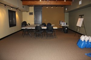 Lecture and training area